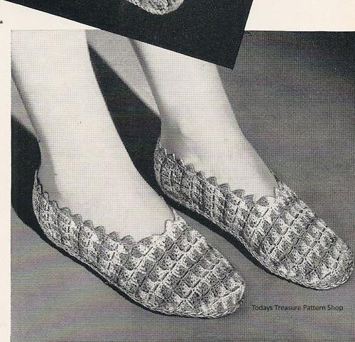 Crochet Shell Stitch Slippers Pattern