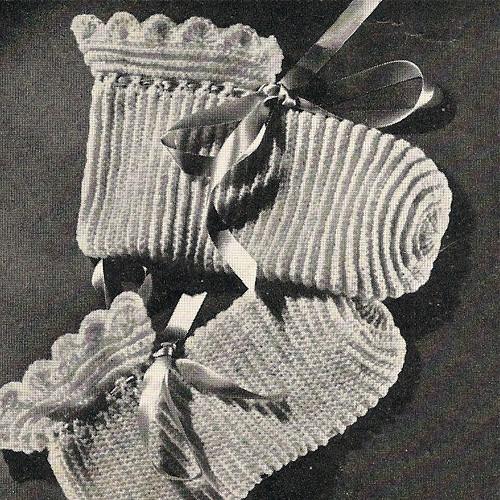 Vintage Bed Socks Crochet Pattern