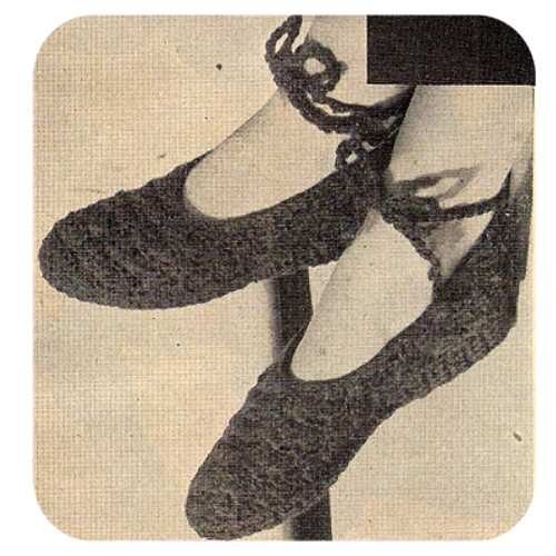 Crocheted Mary Jane Slippers Pattern