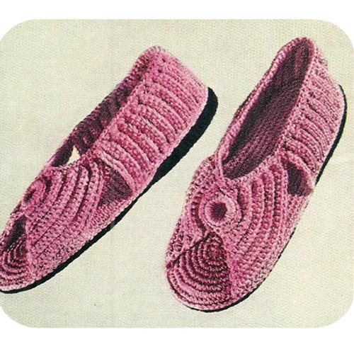 Open Toe Crochet Slippers Pattern with Soles