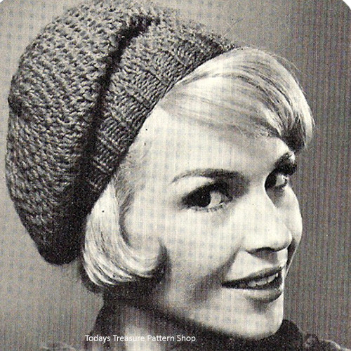 Knitting Pattern, Easy Beret Hat