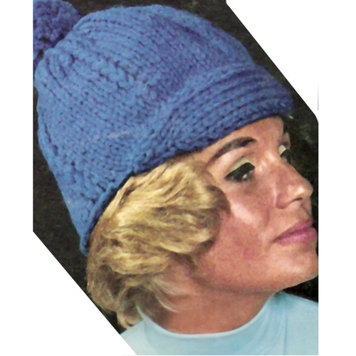 Knitting Pattern Newsboy Hat, Vintage Bernat