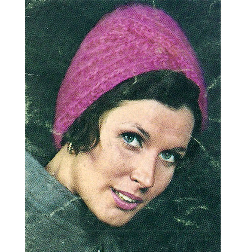 Vintage Turban Knitting Pattern from Bernat