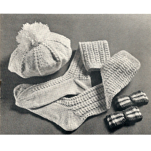 Knitted Socks & Beret Pattern from American Thread