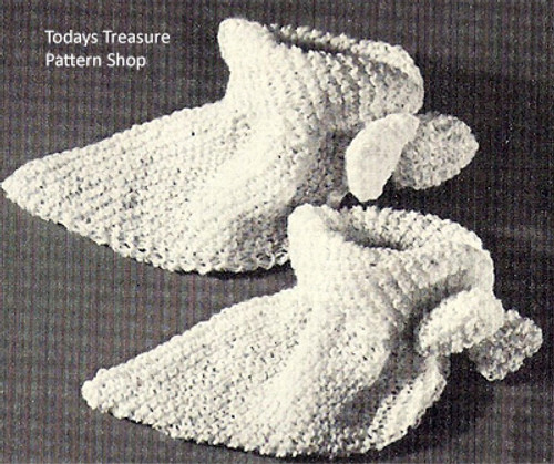 Vintage Bed Socks Knitting Pattern