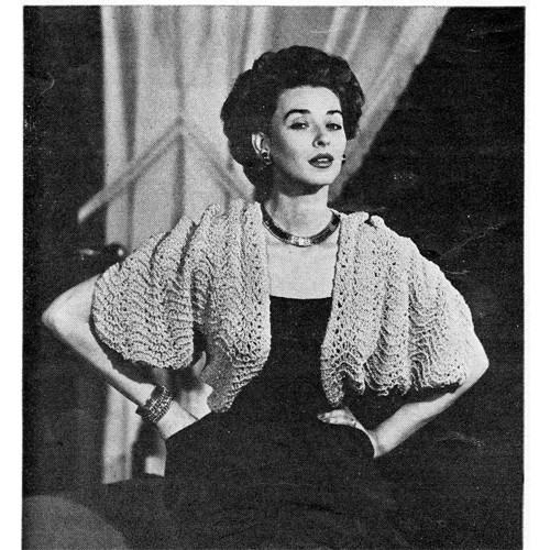 Loose Fitting Knitted Bolero Pattern