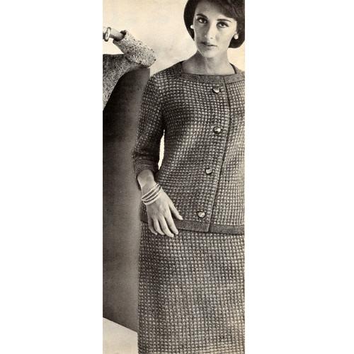 Casual Cardigan Skirt Knitting Pattern