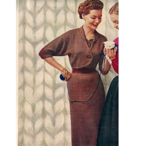 Dolman Sleeve Knit Bolero Dress Pattern
