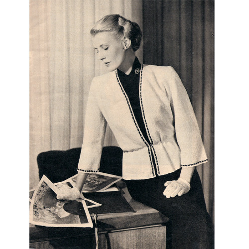 Black White Knitted Suit Pattern