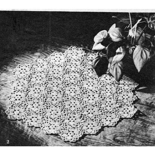 Free Medallion Crochet Pattern for Mats
