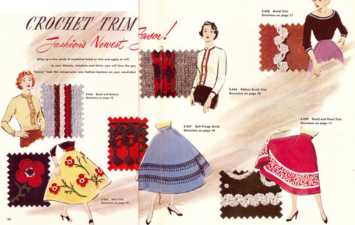 Vintage Crochet Ball Fringe Trim, Free Pattern