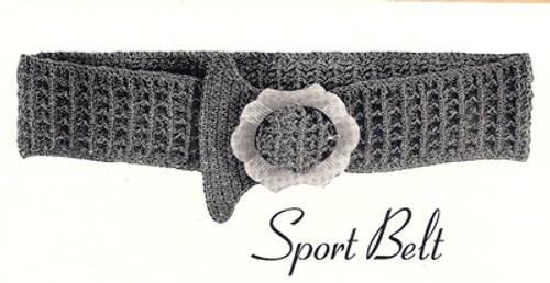 Free Crochet Belt Pattern, Waffle Stitch
