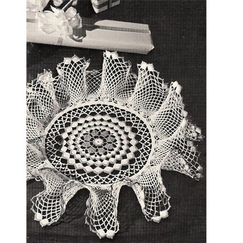Free Ruffled Doily Crochet Pattern, Vintage 1950s