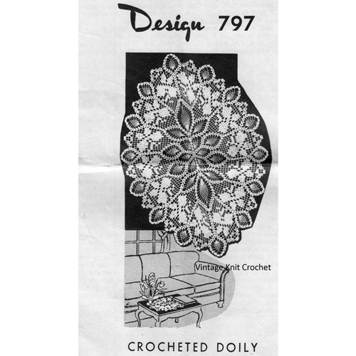 Mail Order Design 797, Crochet Doily pattern