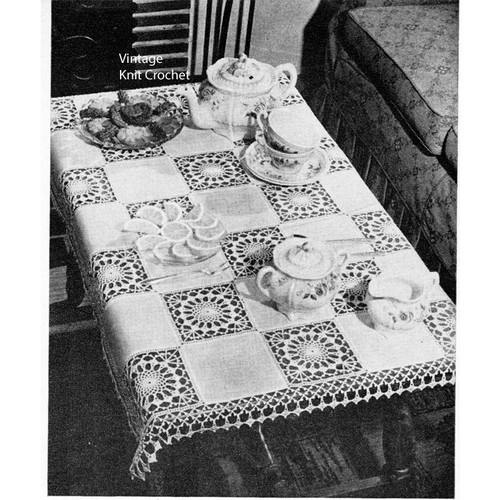 Crochet Cloth pattern of Medallions and Linen