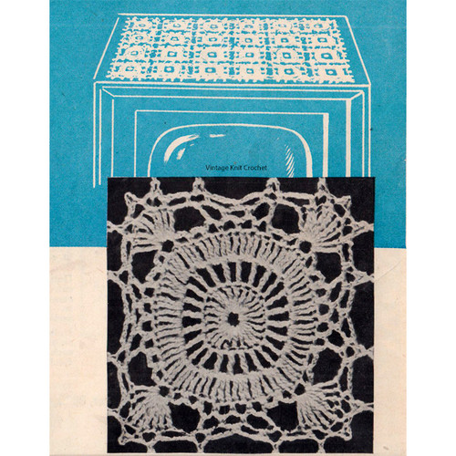 Vintage Square Medallion Crochet Pattern
