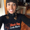 Lisa K sporting a Long-Sleeve Synthetic BDCW T-Shirt.