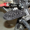BLACK ANODIZED FINISH BDCW Platform Footpeg for big BMW adventure bikes.