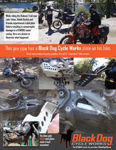 Radek Burkat's skidplate failure