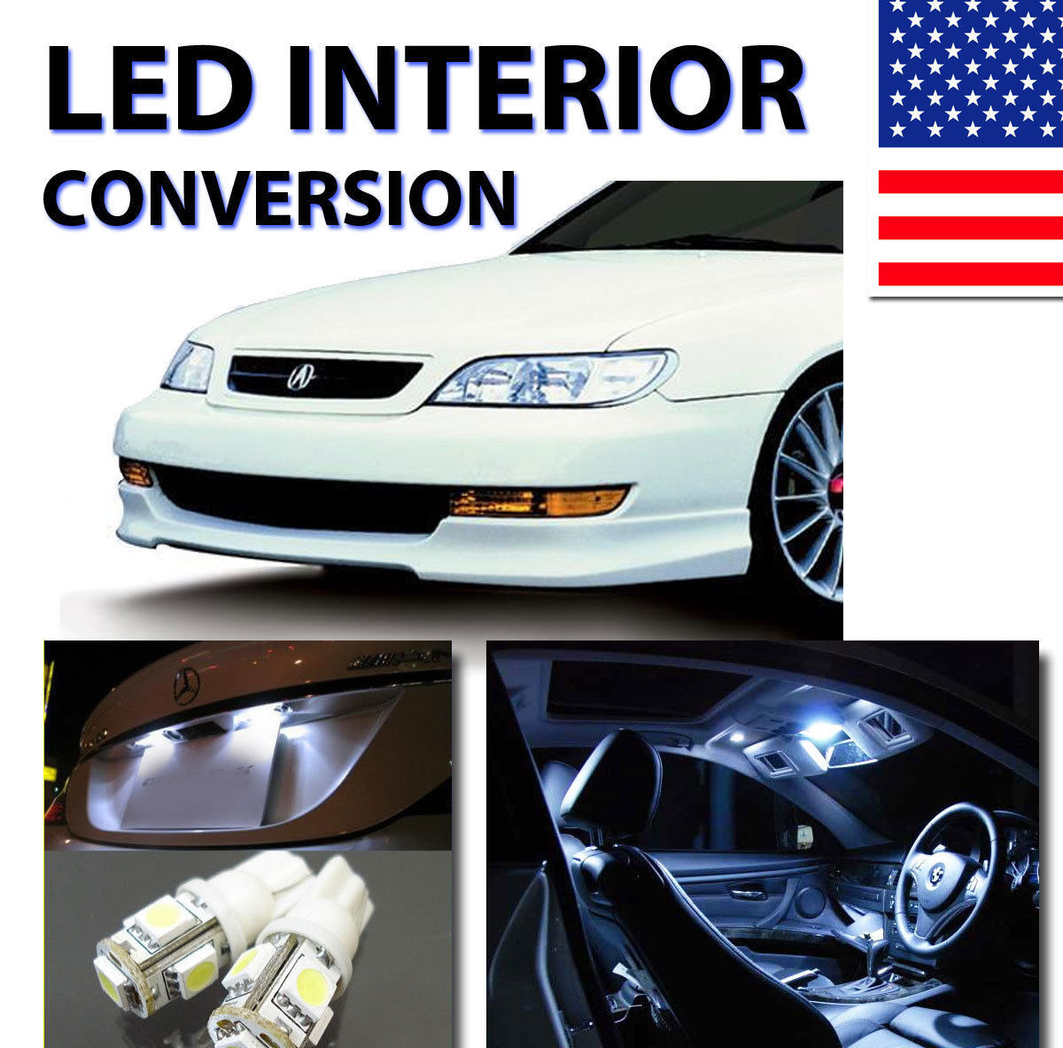 LED Interior Kit For Acura CL 1997-1999