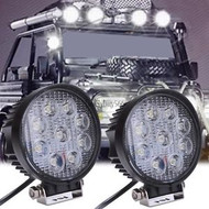 27W Equinox Round LED Work Light Lamp Off Road High Power 60 Degree Flood Light
