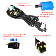 Equinox 9007/HB5 Bi-Xenon HID Relay Harness w/ Fuse (Fits Bixenon Bulbs Only)