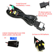 Equinox H13 9008 Bi-Xenon HID Relay Harness w/ Fuse (Fits Bixenon Bulbs Only)