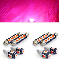 8Pcs Equinox Interior LED Kit Dome Map Trunk Light Package for Chevrolet (Pink)