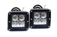 2 x Equinox 20W LED CREE Flood Light Fog Off Road Dually