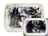 Pair of Equinox 7x6 Halo Headlights (H6054 H6014/H6052/ 6054)