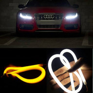 "2 x Equinox 23.62"" (60cm) 12V Audi-Style LED Strip DRL Daytime Light For Cars or Motorcycles"