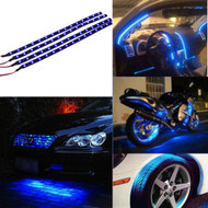 4 x Equinox 30CM/15 LED Flexible Strip Light 12V Waterproof for Cars, Trucks, etc (Blue)