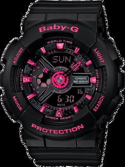 Casio Baby-G Ana-Digital 110 Blk/Pink BA111-1A