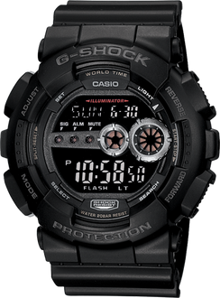 Casio G-SHOCK Super LED XL Reverse LCD GD100-1B