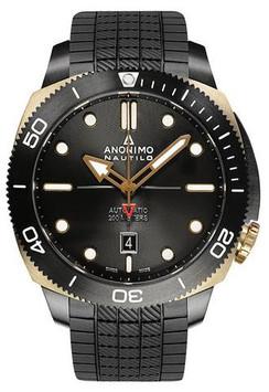 ANONIMO Nautilo Auto - DLC/Bronze Case Black Dial AM-1001.05.001.A11