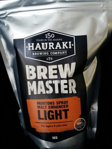 1Kg  For lagers and pale ales. Adds flavour, aroma and body. Assists head retention. Spray dried barley malt (UK) with dextrose and maltodextrin. 75% fermentable. Equivalent to 1.96Kg malted barley, 1.53Kg Liquid Malt, 760g sugar