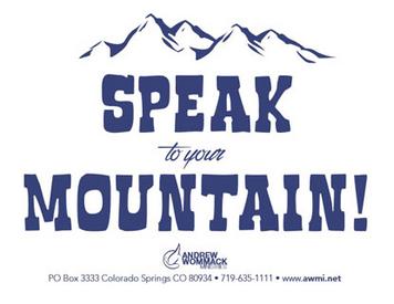 Speak to your Mountain - Sticker