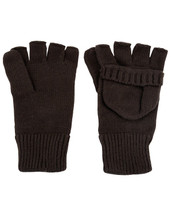Fingerless Shooters Mitts Gloves in black
