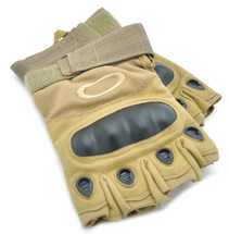 Fingerless Gloves with knuckle protection in Tan