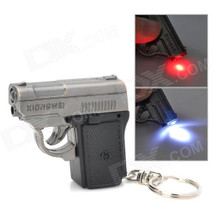 Mini pistol keychain with 2in1 LED Light and Laser pointer