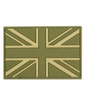 Tactical Patch PVC Union Jack Patch in olive green
