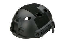 Fast Helmet with Rails inc Extra Internal Padding in black