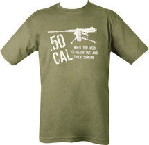Kombat .50 CAL T-Shirt - When you need to reach out