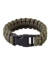Kombat Expandable Paracord Bracelet With Whistle In Sand