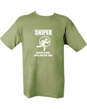 Kombat Sniper Die Tired T-shirt in Green