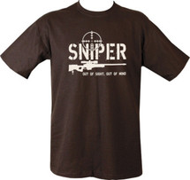 Kombat Sniper T-Shirt out of sight out of mind in Black