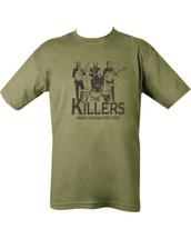Kombat The Killers T Shirt in Green