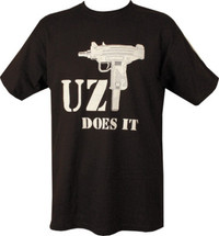 Kombat  Uzi Does It T-Shirt in Black