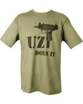 Kombat T-Shirt Uzi Does It in olive green