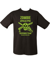 Kombat Zombie Apocalypse Response Team T Shirt in black